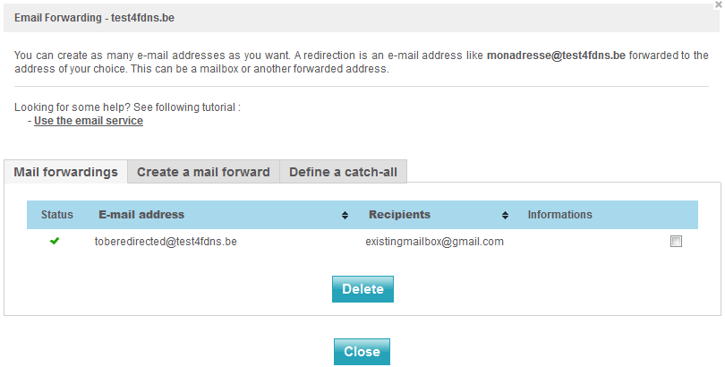 Use the email forwarding service - NETIM